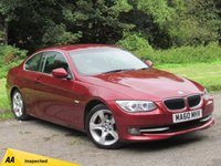 USED 2010 60 BMW 3 SERIES 2.0 320I SE 2d AUTO 168 BHP FULL LEATHER INTERIOR, FRONT AND REAR SENSORS