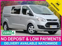 USED 2017 66 FORD TRANSIT CUSTOM 2.0 TDCI LIMITED 6 SEAT COMBI VAN LWB L2H1 290 130BHP LONG WHEEL BASE CREW CAB AIR CONDITIONING CRUISE ALLOYS