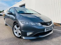USED 2010 10 HONDA CIVIC 2.2 I-CTDI TYPE-S GT T 3d 138 BHP FULL SERVICE HSTORY - PANORAMIC ROOF - SAT NAV - ONLY 1 PREVIOUS OWNER - MOT MARCH 2020 - 2 KEYS - 3 MONTH WARRANTY