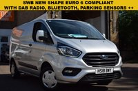 USED 2018 18 FORD TRANSIT CUSTOM 2.0 300 TREND P/V L1 H1 1d 129 BHP Great value new shape 2018 Ford Transit custom 2.0tdci 130 Trend 300 SWB in silver metallic, priced at just £13999 + vat.