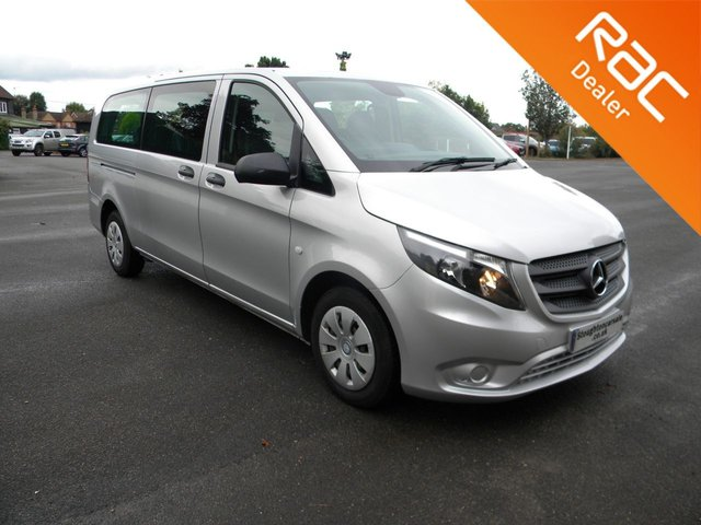 USED 2016 16 MERCEDES-BENZ VITO 2.1 114 BLUETEC TOURER PRO 5d 136 BHP Automatic 9 Seater, Full Leather Interior, ULEZ Compliant, Air Con