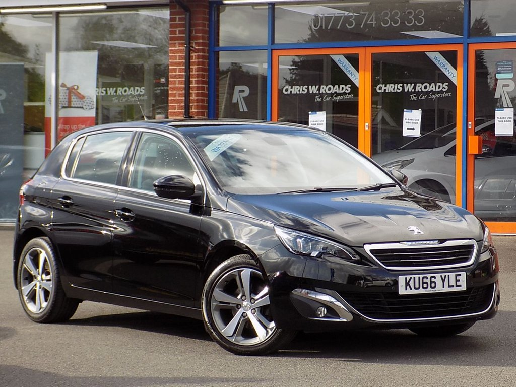 USED 2016 66 PEUGEOT 308 1.6 BlueHDI Allure 5dr **Sat Nav + Front/Rear PDC**