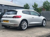USED 2013 VOLKSWAGEN SCIROCCO 2.0 TDI BLUEMOTION TECHNOLOGY DSG 2d AUTO 140 BHP NAVIGATION SYSTEM  +  BLUETOOTH +  FULL SERVICE HISTORY +  FULL LEATHER +  HEATED SEATS +  STOP START +