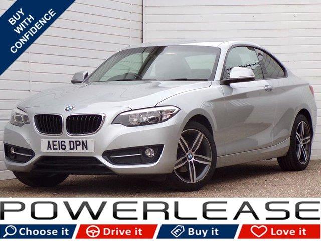 USED 2016 16 BMW 2 SERIES 2.0 218D SPORT 2d 148 BHP 30POUNDROADTAX HEATEDSEATS NAV