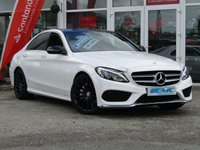 "USED 2017 17 MERCEDES-BENZ C CLASS 2.1 C 220 D AMG LINE PREMIUM PLUS 4d AUTO 170 BHP STUNNING, 2017, MERCEDES C220 D AMG LINE PREMIUM PLUS, 170 BHP. Finished in DIAMOND WHITE with contrasting CRANBERRY RED heated memory seats. This dynamic looking saloon has every extra you could want. It is sporty and agile and great fun to drive. Features include, Sat Nav, Panoramic roof, heated memory leather seats, DAB radio, Cruise Control, Electric Boot, Reverse Cameras, 19"" Alloys and much more. Still UNDER MERCEDES WARRANTY until June 2020."