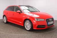 USED 2015 64 AUDI A3 1.4 SPORTBACK E-TRON 5DR AUTO SAT NAV HEATED LEATHER SEATS 101 BHP FULL AUDI SERVICE HISTORY + FREE 12 MONTHS ROAD TAX + HEATED LEATHER SEATS + SATELLITE NAVIGATION + PANORAMIC ROOF + PARKING SENSOR + BLUETOOTH + CRUISE CONTROL + CLIMATE CONTROL + MULTI FUNCTION WHEEL + DAB RADIO + PRIVACY GLASS + ELECTRIC WINDOWS + ELECTRIC MIRRORS + 17 INCH ALLOY WHEELS