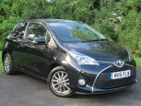 USED 2016 16 TOYOTA YARIS 1.3 VVT-I ICON 3d 99 BHP * 12 MONTHS AA BREAKDOWN COVER * 128 POINT AA INSPECTED *