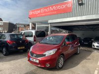 USED 2016 16 NISSAN NOTE 1.2 ACENTA PREMIUM 5d 80 BHP 5272 MILES FROM NEW! £20 ROAD TAX! LOW CO2 EMISSIONS, GREAT SPEC INCLUDING ALLOY WHEELS, CLIMATE CONTROL, PRIVACY GLASS, CRUISE CONTROL,SAT NAV, BLUETOOTH AND MEETS LARGE CITY EMISSION STANDARDS!