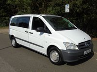 USED 2013 62 MERCEDES-BENZ VITO 2.1 113 CDI TRAVELINER 8 SEATER AUTO 136 BHP 5DR MINIBUS/MPV/ESTATE +AUTOMATIC+1 OWNER+8 SEATS