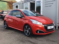 USED 2016 16 PEUGEOT 208 1.6 THP GTI PRESTIGE 3d 208 BHP FINANCE ME TODAY ++ DECISIONS IN 60 SECONDS