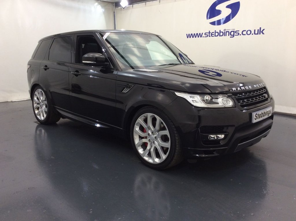 """USED 2016 66 LAND ROVER RANGE ROVER SPORT 4.4 SDV8 AUTOBIOGRAPHY DYNAMIC 5d AUTO 339 BHP PAN ROOF, SAT NAV, LEATHER, POWER HEATED FRONT SEATS WITH MEMORY FUNCTION, MERIDIAN SOUND SYSTEM, COLOUR TOUCHSCREEN MEDIA INTERFACE,VIRTUAL INSTRUMENT PANEL, SUEDE HEADLINING, POWER HEADRESTS, HEATED STEERING WHEEL, IN CONTROL APPS, WIFI HOTSPOT, POWER TAILGATE, XENON HEADLIGHTS, AUTO LIGHTS AND WIPERS, KEYLESS ENTRY AND START, QUAD ZONE CLIMATE CONTROL, CRUISE CONTROL, REVERSE CAMERA WITH PARKING SENSORS, DAB RADIO, 22"""" ALLOYS"""