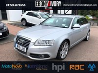 USED 2011 11 AUDI A6 2.0 AVANT TDI S LINE SPECIAL EDITION 5d AUTO 168 BHP + FULL LEATHER + SAT NAV + FULL BLACK LEATHER INTERIOR