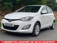 USED 2013 13 HYUNDAI I20 1.2 ACTIVE 5d 84 BHP 2 OWNER, FULL SERVICE HISTORY, £30 RAOD TAX, 1YR MOT EXCELLENT CONDITION,  ALLOYS, AIR CON, BLUETOOTH, RADIO CD, E/WINDOWS, R/LOCKING, FREE WARRANTY, FINANCE AVAILABLE, HPI CLEAR, PART EXCHANGE WELCOME,