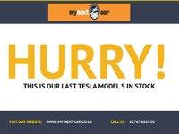 USED 2014 14 TESLA MODEL S AUTO 285 BHP FSH HUGE SPEC PAN ROOF VGC A/C