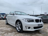 """USED 2013 13 BMW 1 SERIES 2.0 118I EXCLUSIVE EDITION 2d 141 BHP 2KEYS+HISTORY+LEATHER+MEDIA+17"""" ALLOYS+AIRCON+PARK+RUNFLATS+CD+"""