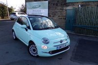 USED 2017 17 FIAT 500 1.2 LOUNGE 3d 69 BHP ONE Owner FULL Fiat Service History With SAT NAV