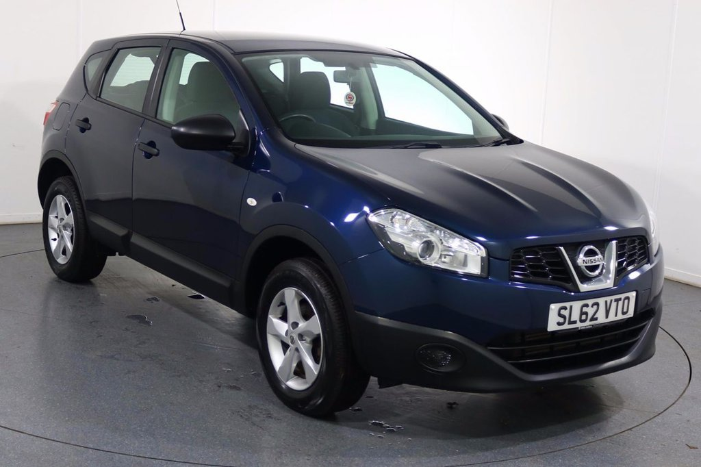 USED 2012 62 NISSAN QASHQAI 1.6 VISIA IS DCIS/S 5d 130 BHP Demo and 2 OWNERS with 5 Stamp SERVICE HISTORY