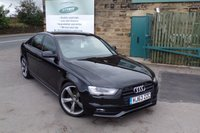 USED 2013 63 AUDI A4 2.0 TDI BLACK EDITION 4d 148 BHP One Former Owner FULL AUDI Service History ... SAT NAV .. Xenons... Sound Upgrade ... BLACK PACK