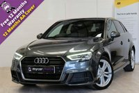 USED 2016 66 AUDI A3 2.0 TDI S LINE 5d AUTO 148 BHP FULL SERVICE HISTORY, AUDI VIRTUAL COCKPIT, TECHNOLOGY PACK ADVANCED, LED HEADLIGHTS, PRIVACY GLASS