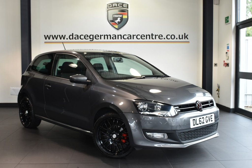 """USED 2013 62 VOLKSWAGEN POLO 1.4 MATCH DSG 3DR 83 BHP vw service history Finished in a stunning nimbus metallic grey styled with 17"""" alloys. Upon opening the drivers door you are presented with grey cloth upholsetry, vw service history, bluetooth, dab radio, heated mirrors, auxiliary port, air conditioning"""
