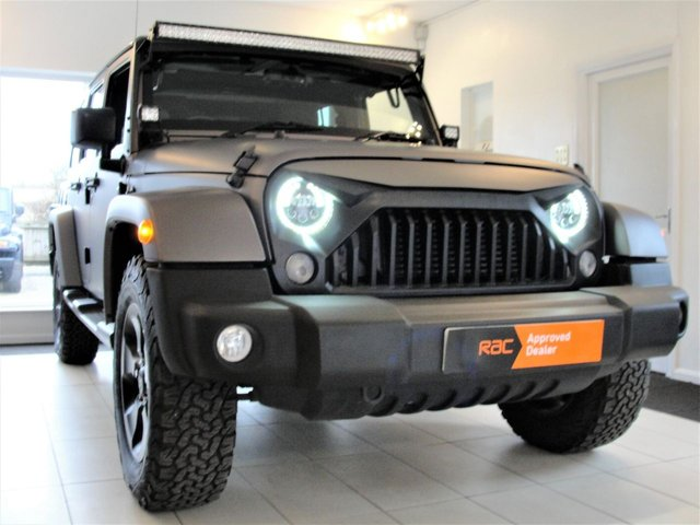2014 14 JEEP WRANGLER 2.8 CRD OVERLAND UNLIMITED 4d AUTO 197 BHP, Kahn/Chelsea Truck Quilted Leather Interior
