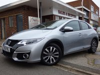 USED 2016 16 HONDA CIVIC 1.6 I-DTEC SE PLUS NAVI 5d 118 BHP ONE OWNER FULL HONDA SERVICE HISTORY & FREE ROAD TAX