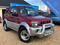 USED 2002 52 SUZUKI JIMNY 1.3 O2 JLX SOFT TOP 3d 80 BHP Comprehensive History File