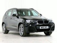 USED 2015 15 BMW X3 2.0 xDrive 20D M SPORT 5d AUTO 188 BHP [£2,780 OF OPTIONS] TOWBAR CAMERA XENONS METALLIC....