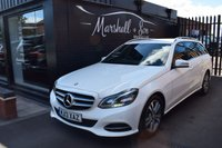 USED 2013 13 MERCEDES-BENZ E CLASS 2.1 E220 CDI SE 5d AUTO ESTATE 168 BHP MB + 1 OWNER - S/H - LEATHER - SAT NAV - HEATED SEATS - POWERBOOT