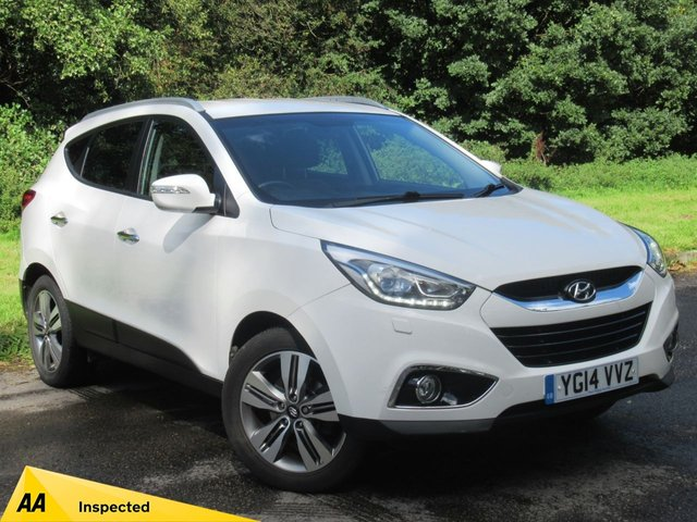 USED 2014 14 HYUNDAI IX35 1.7 PREMIUM CRDI 5d 114 BHP FULL HEATED LEATHER INTERIOR, SAT NAV