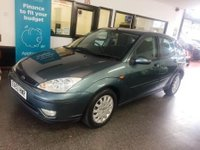 USED 2003 53 FORD FOCUS 1.8 GHIA TDCI 5d 100 BHP This Focus is finished in Metallic Neptune green with Black cloth seats. It is fitted with power steering, remote locking, electric windows and mirrors, air conditioning, heated screens alloy wheels, Stereo and more. It has had one private owner from new.  It comes with a brilliant service history consisting of  stamps and receipts  We will supply the car with 12 months and 12 months RAC roadside recovery. This Focus is in good condition for a 16 year old car and has had one owner.