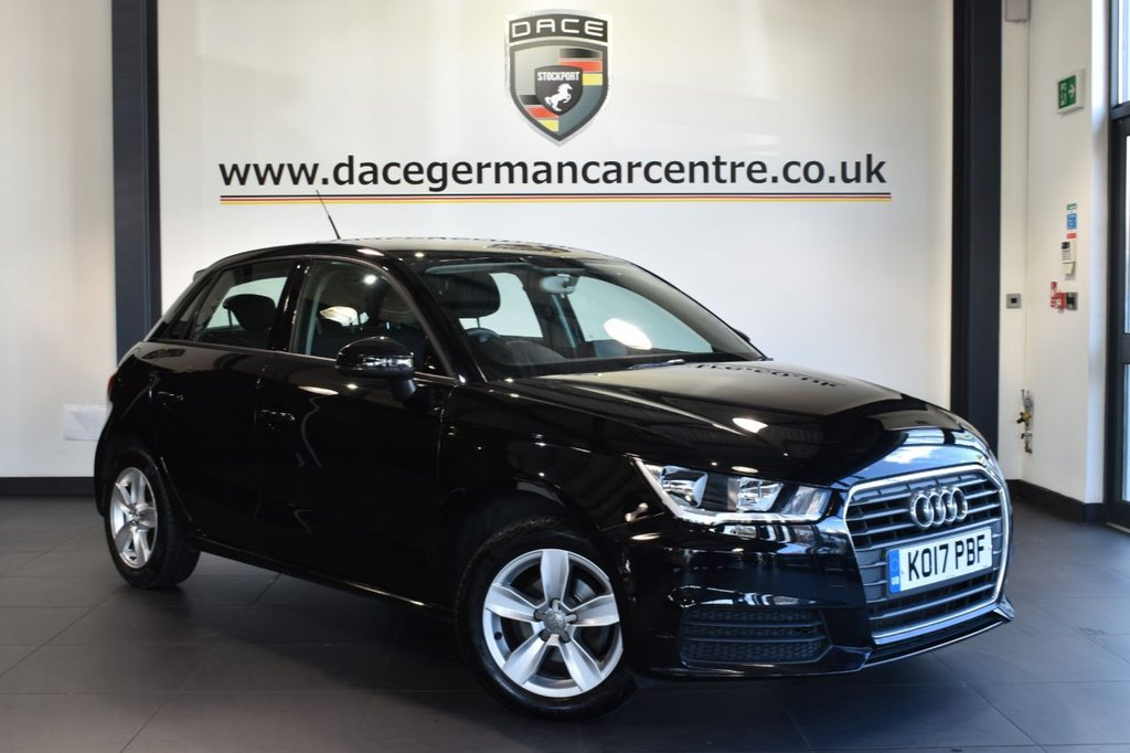 """USED 2017 17 AUDI A1 1.0 SPORTBACK TFSI SE 5DR 93 BHP full service history Finished in a stunning black styled with 15"""" alloys. Upon opening the drivers door you are presented with cloth upholstery, full service history, cruise control, dab radio, aux port, heated mirrors, air conditioning, parking sensors"""