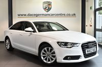 """USED 2012 62 AUDI A6 2.0 TDI SE 4DR AUTO 175 BHP full service history Finished in a stunning white styled 17"""" alloys. Upon opening the drivers door you are presented with full black leather interior, full service history, satellite navigation, bluetooth, cruise control, air conditioning, heated mirrors, parking sensors"""