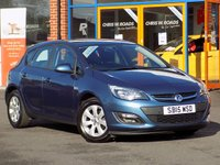 USED 2015 15 VAUXHALL ASTRA 1.6i Design 5dr **Cruise + Front/Rear PDC**