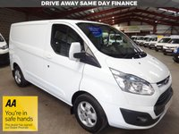 USED 2016 16 FORD TRANSIT CUSTOM 2.2 270 LIMITED LR P/V 125 BHP L1 SWB VAN '' YOU'RE IN SAFE HANDS  ''  WITH THE AA DEALER PROMISE