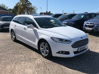 USED 2015 15 FORD MONDEO 2.0 TITANIUM X TDCI 5d AUTO 180 Estate Pan Rf Huge Spec FULL SERVICE HISTORY