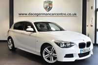 """USED 2013 62 BMW 1 SERIES 2.0 116D M SPORT 5DR 114 BHP full service history - £30 road tax Finished in a stunning alpine white styled with 18"""" alloys. Upon opening the drivers door you are presented with anthracite upholstery, full service history, £30 road tax, bluetooth, sport seats, mulit-functional steering wheel, privacy glass, bmw pro radio, auto air con, fog lights, auxiliary port"""