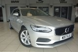 USED 2017 17 VOLVO V90 2.0 D4 MOMENTUM 5d AUTO 188 BHP FINISHED IN STUNNING SILVER WITH FULL BLACK LEATHER SEATS + 1 OWNER FROM NEW WITH A FULL SERVICE HISTORY + LARGE SCREEN SATELLITE NAVIGATION + INTERNET CONNECTIVITY + DAB DIGITAL RADIO + ELECTRONIC HEATED FRONT SEATS + AIR CONDITIONING + CRUISE CONTROL + CLIMATE CONTROL + BLUETOOTH CONNECTIVITY INCLUDING BLUETOOTH AUDIO + AUX/USB + PROXIMITY PARKING SENSORS + 60/40 SPLIT REAR FOLDING SEATS + 17 INCH ALLOY WHEELS