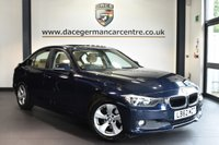 "USED 2013 62 BMW 3 SERIES 2.0 320D EFFICIENTDYNAMICS 4DR AUTO 161 BHP full bmw service history Finished in a stunning imperial metallic blue styled 16"" alloys. Upon opening the drivers door you are presented with full beige leather interior, full bmw service history, £20 road tax, pro satellite navigation, bluetooth, sunroof, rear-view camera, heated seats, cruise control, light package, auto air con, rain sensors, fog lights, parking sensors with park assist"