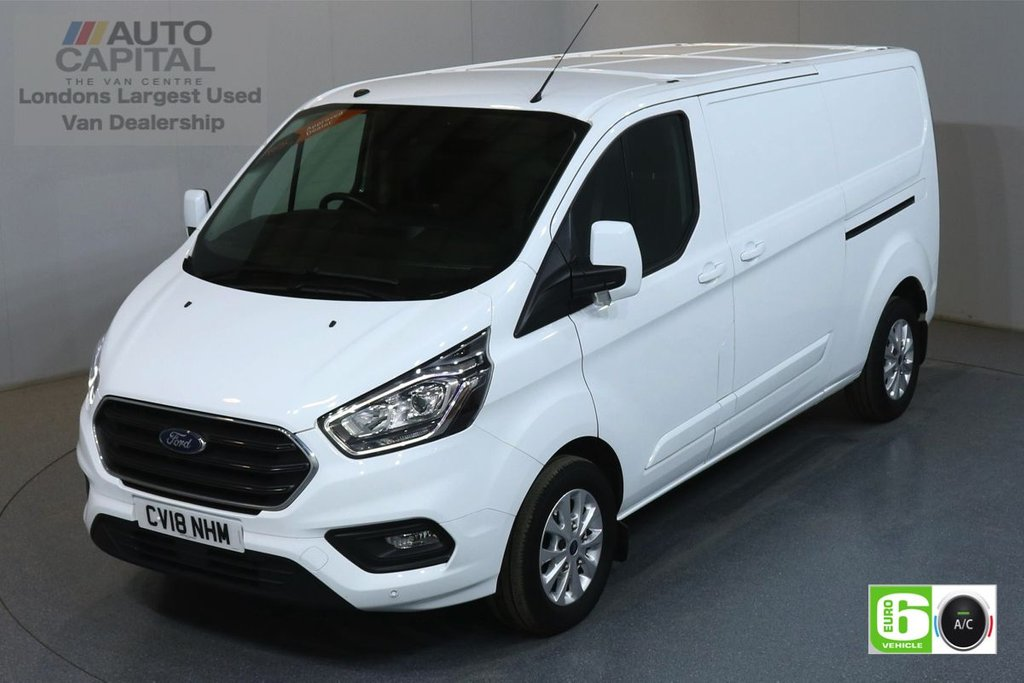 USED 2018 18 FORD TRANSIT CUSTOM 2.0 300 LIMITED L2 H1 129 BHP EURO 6 ENGINE AIR CON, F-R PARKING SENSORS, ALLOY WHEEL, HEATED FRONT SEATS