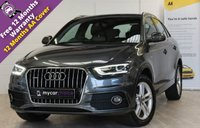 USED 2013 13 AUDI Q3 2.0 TDI QUATTRO S LINE 5d 138 BHP REVERSE CAMERA, SERVICE HISTORY, FRONT AND REAR PARKING AID, XENON PLUS HEADLIGHTS, ALCANTARA/LEATHER