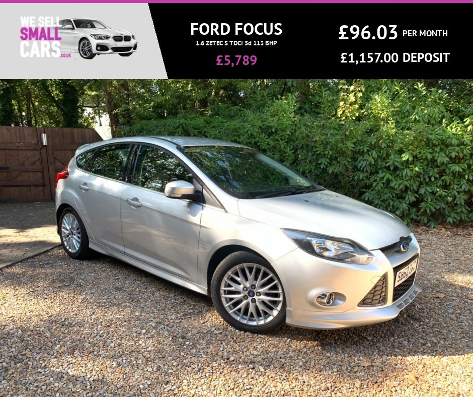 USED 2012 62 FORD FOCUS 1.6 ZETEC S TDCI 5d 113 BHP 3 OWNERS FULL SERVICE HISTORY £20 TAX BLUETOOTH FACTORY BODYKIT