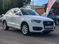 USED 2014 64 AUDI Q3 2.0 TDI QUATTRO SE 5d AUTO 175 BHP 1 OWNER FROM NEW *   FULL SERVICE HISTORY *  MOT 13/09/2020 *  BLUETOOTH +   DAB RADIO +   CLIMATE CONTROL *