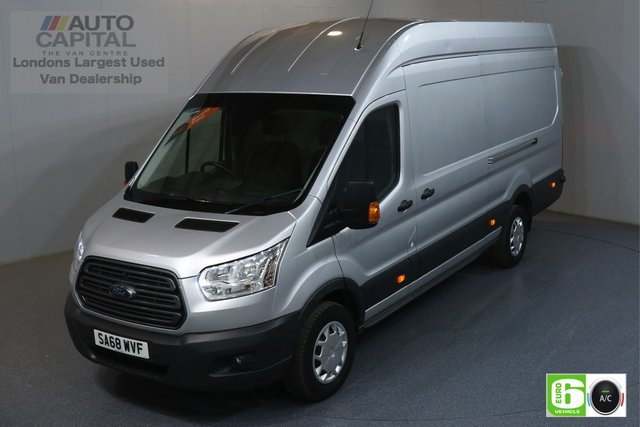 2018 68 FORD TRANSIT 2.0 350 TREND RWD L4 H3 JUMBO 129 BHP EURO 6 ENGINE AIR CON, FRONT- REAR PARKING SENSORS