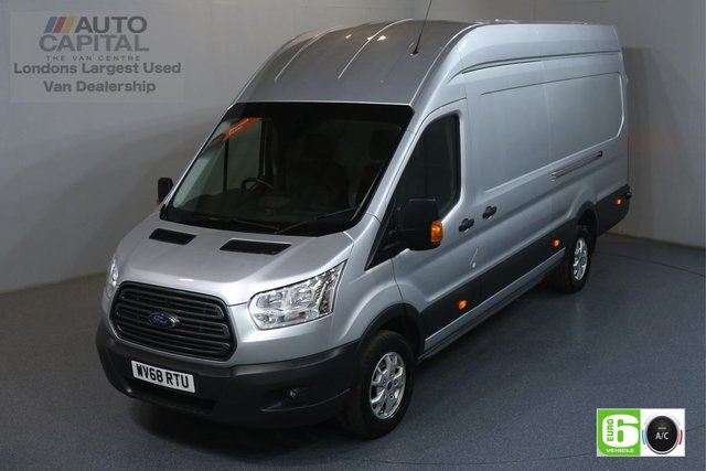 2018 68 FORD TRANSIT 2.0 350 TREND RWD L4 H3 JUMBO 129 BHP EURO 6 ENGINE AIR CON, FRONT- REAR PARKING SENSORS, ALLOY WHEEL