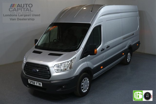2018 68 FORD TRANSIT 2.0 350 TREND RWD L4 H3 JUMBO 129 BHP EURO 6 ENGINE AIR CON, FRONT-REAR PARKING SENSORS