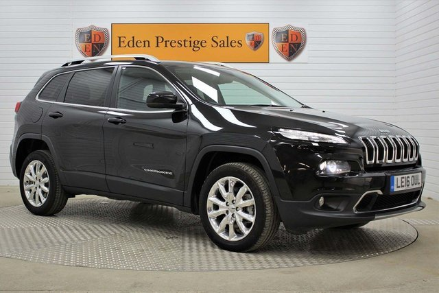 USED 2016 16 JEEP CHEROKEE 2.2 MultiJetII Limited Auto 4WD (s/s) 5dr LEATHER*SAT-NAV*REV-CAM*CRUISE