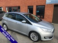 """USED 2016 16 FORD C-MAX 1.5 TITANIUM TDCI 5DOOR 118 BHP ONLY £20 Road Tax     :     DAB Radio     :     Satellite Navigation     :     USB & AUX Sockets      Cruise Control / Speed Limiter   :   Bluetooth Connectivity   :   Climate Control / Air Con      Rear Parking Sensors   :   17"""" Alloy Wheels   :   2 Keys   :   Comprehensive Service History"""