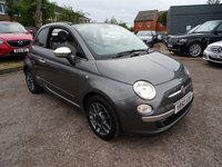 USED 2010 60 FIAT 500 1.2 C LOUNGE 3d 69 BHP HALF LEATHER TRIM, BLUETOOTH TELEPHONE, ELECTRIC CONVERTIBLE ROOF