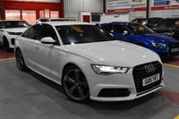 2015 AUDI A6 2.0 TDI ULTRA BLACK EDITION 4d AUTO WHITE 188 BHP FULL BLACK LEATHER £16495.00